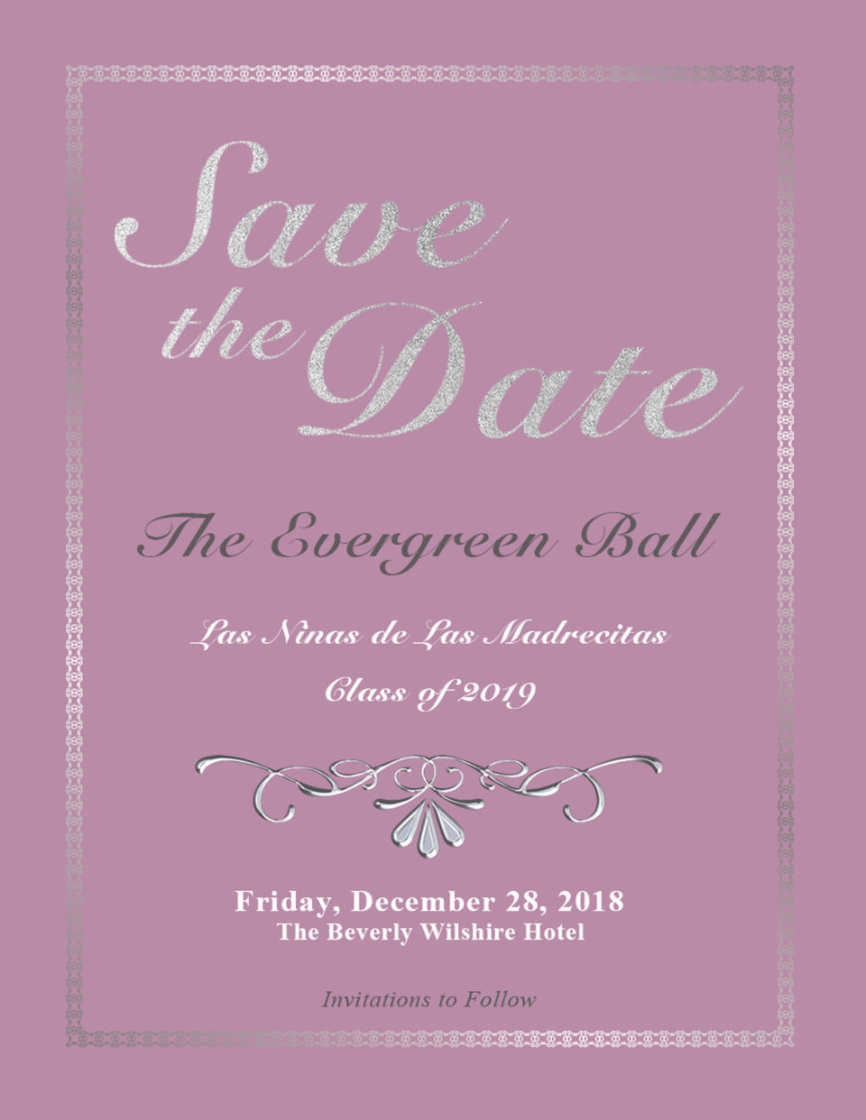 Evergreen Ball Class of 2019 Save the Date