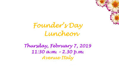 Founder's Day Luncheon | Feb 7, 2019